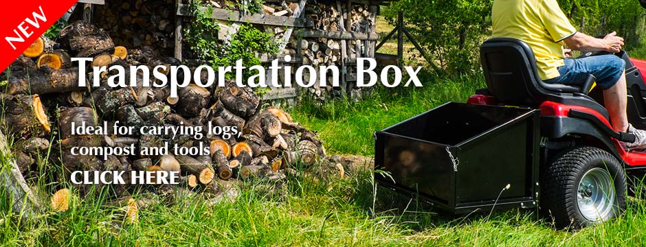 The Westwood transportation box is ideal for carrying logs, compost and tools