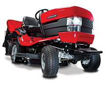 Westwood F Series 4TRAC garden tractor with Powered Grass Collector