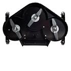 The Countax XRD cutter deck is a heavy duty reinforced rear discharge deck